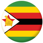 Zimbabwe Country Flag 58mm Button Badge